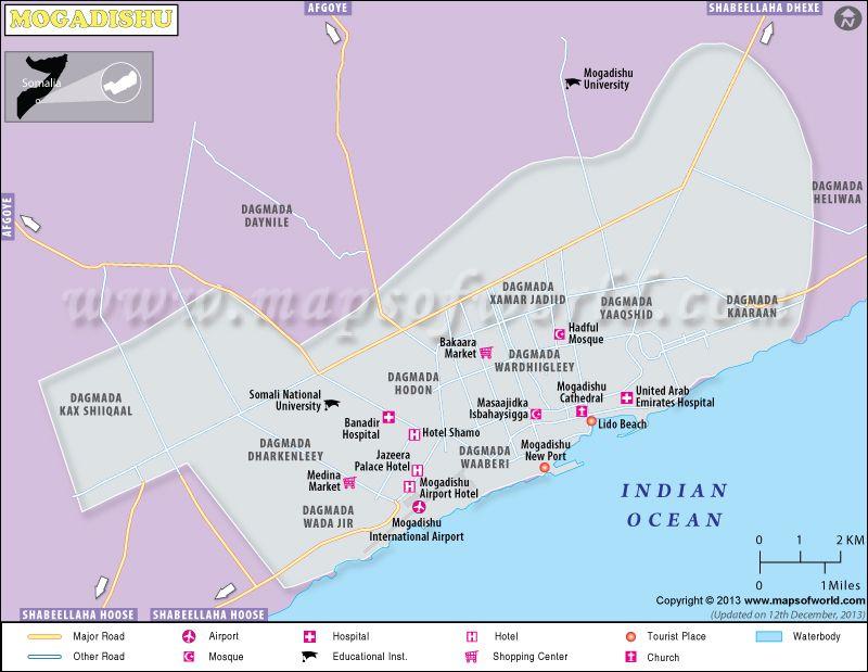 Mogadishu Africa Map.Mogadishu Map In 2019 Map Location Map City