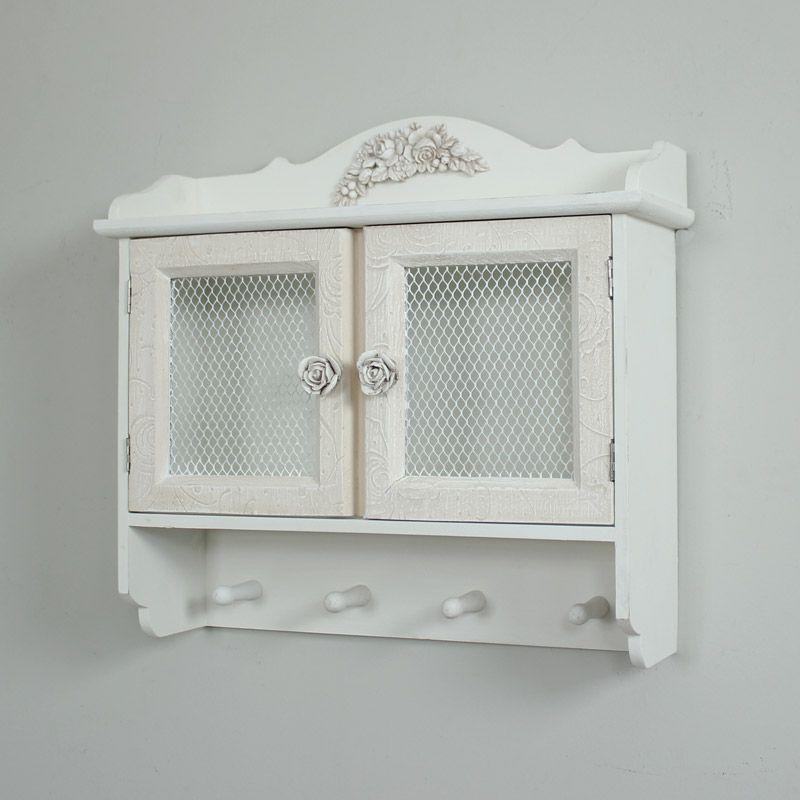 White Wall Cabinet With Hooks Lila Range Moveis De Madeira Reciclada Dicas De Organizacao Para Casa Coisas De Madeira