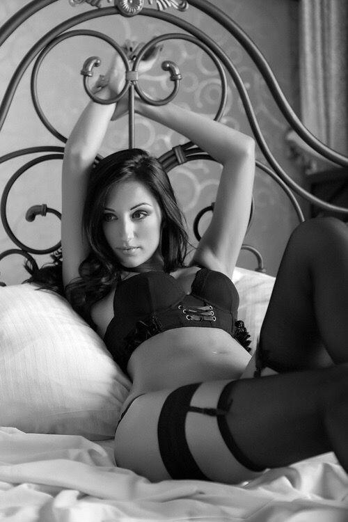 and stockings boudoir Black white