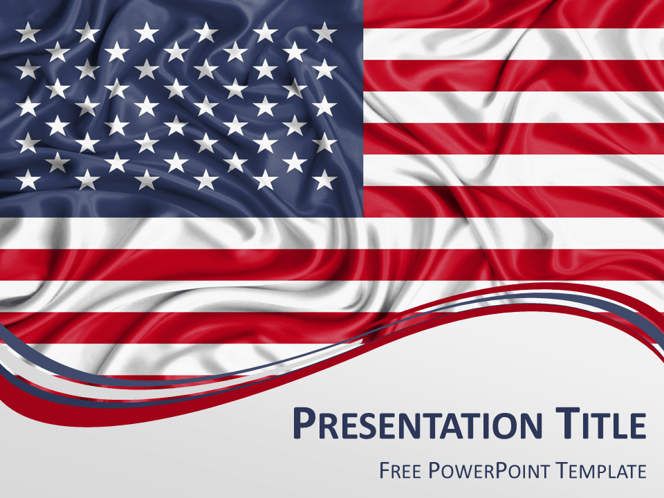 United states flag powerpoint template presentationgo template free powerpoint template with flag of the united states background toneelgroepblik Gallery
