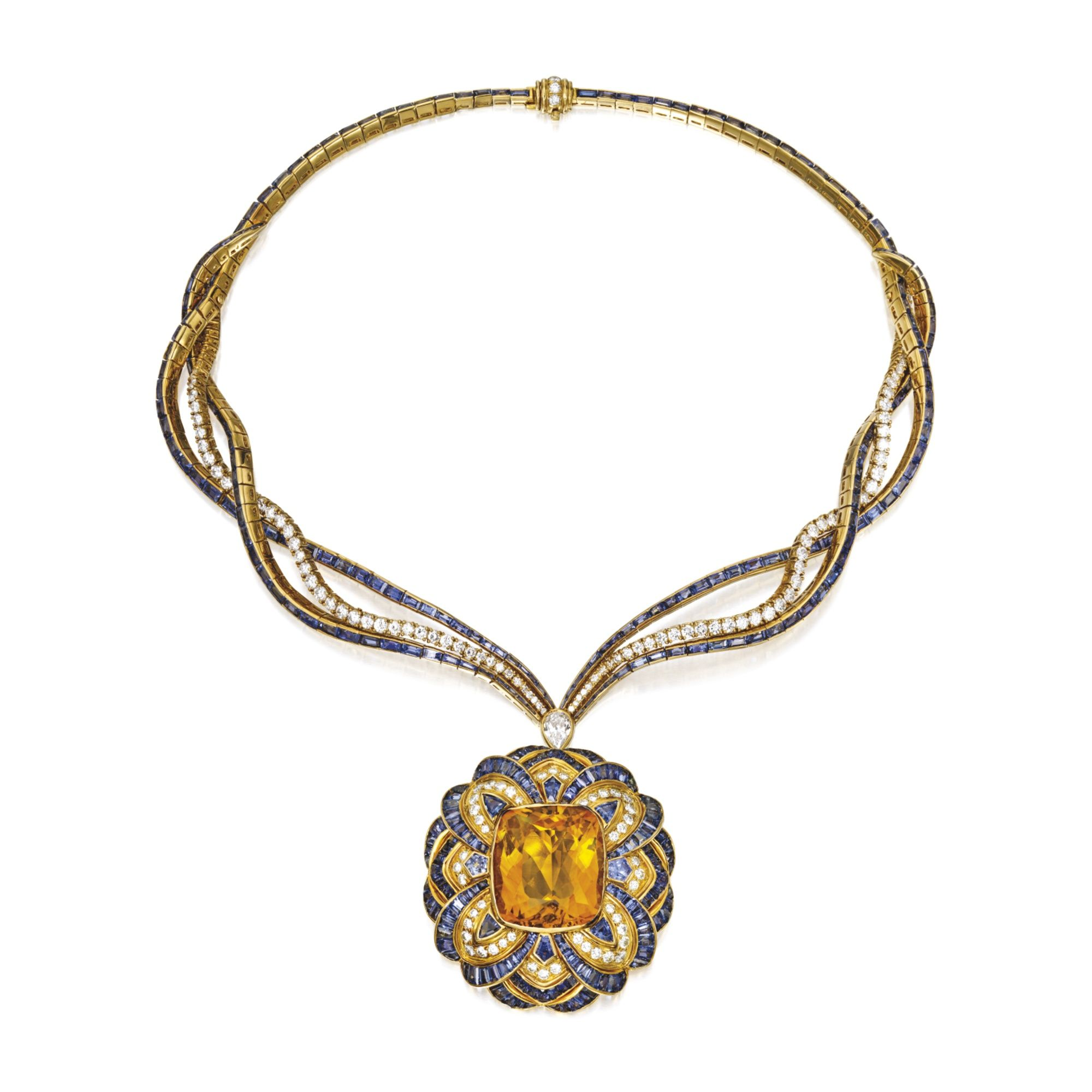 heltzel designyard rudolf necklace pendant citrine products yellow gold