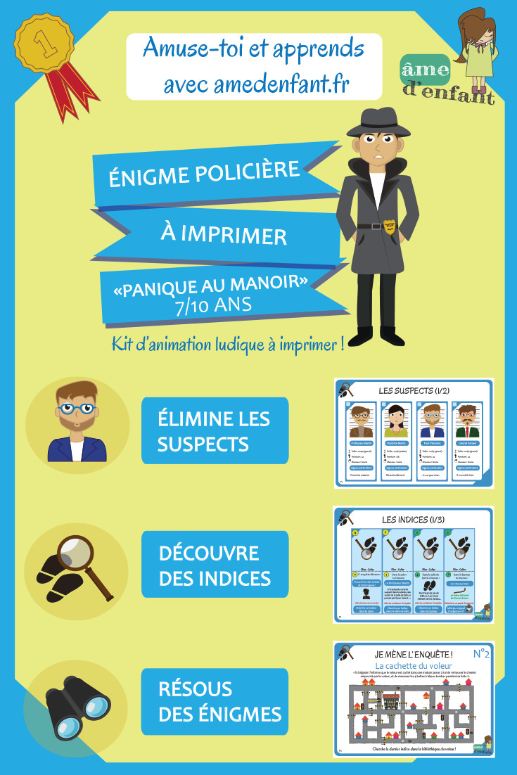 Jeux De Fête D'anniversaire Gratuit Inspirational Enquête Policière à Imprimer Pour… en 2020 ...