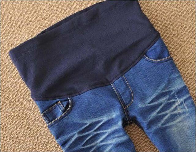 219e9e668 Nuevos pantalones de maternidad elástico de cintura alta Leggings Jeans  pant para mujeres embarazadas barato ropa de moda sml XL XXL