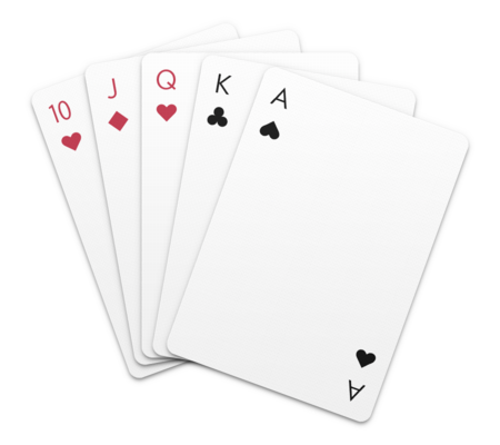 hand of cards arranged in a manner that makes all cards partially visible.