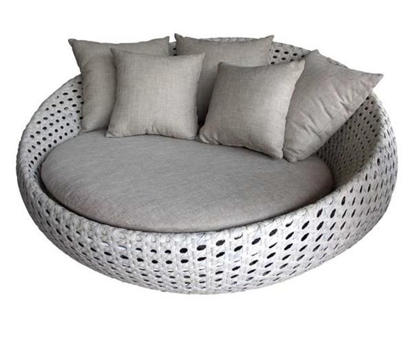 Tf Round Outdoor Patio Wicker Lounge Chair From Gardenside