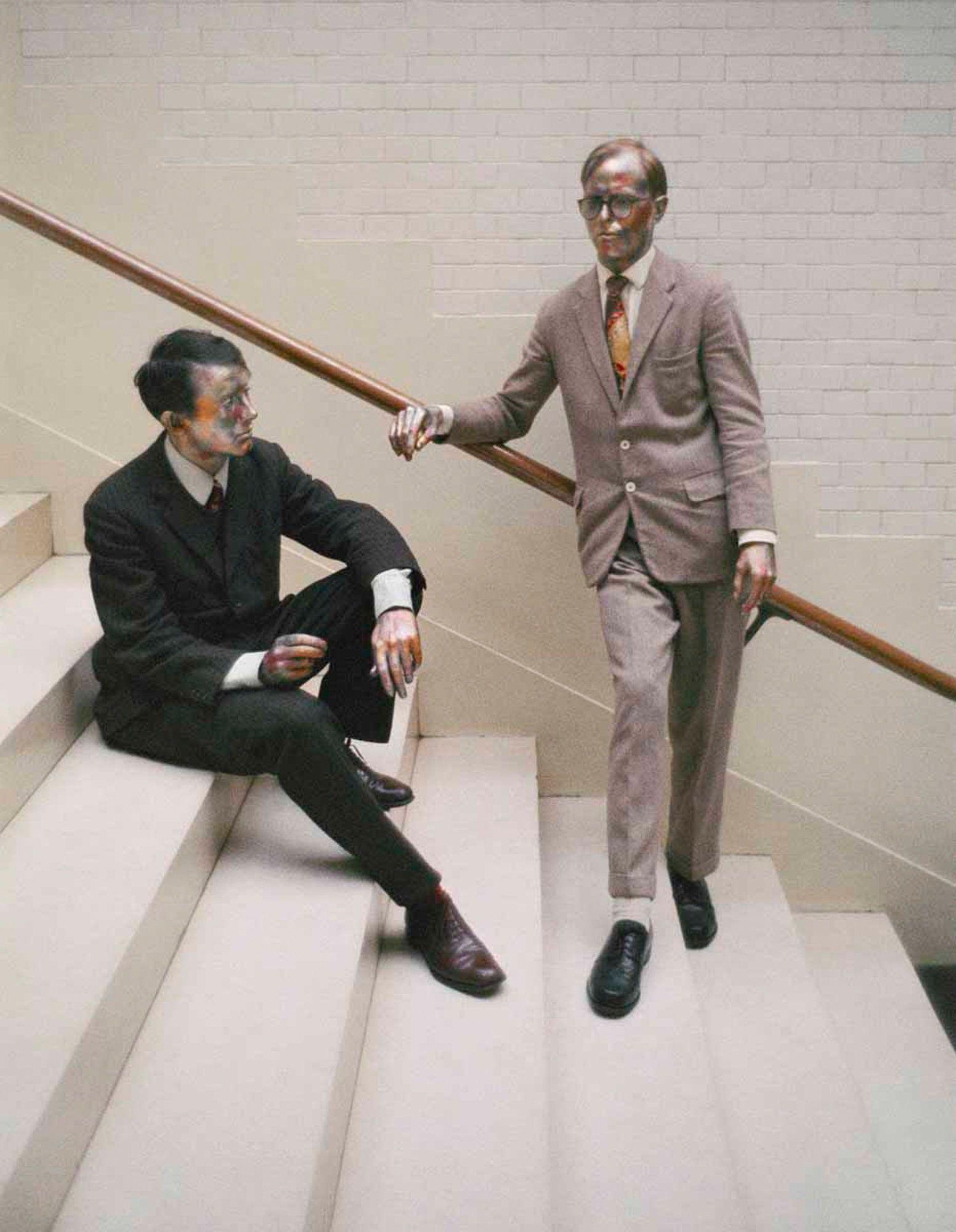 Gilbert And George Living Sculpture Stedelijk Museum 15 November 1969 Ad Petersen Gilbert George Performance Art Artist At Work