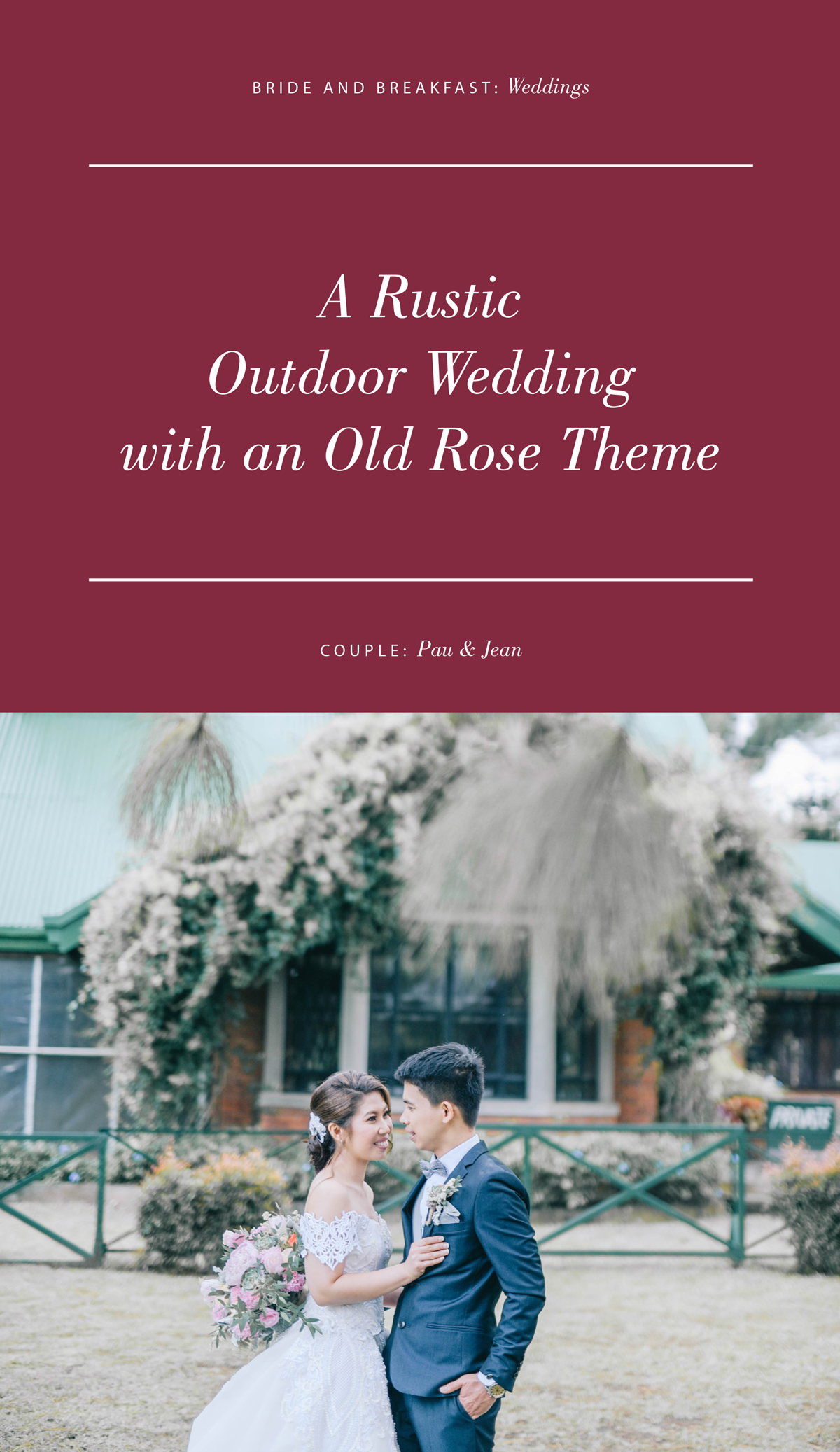 A Rustic Outdoor Wedding with an Old Rose Theme | Real Weddings ...
