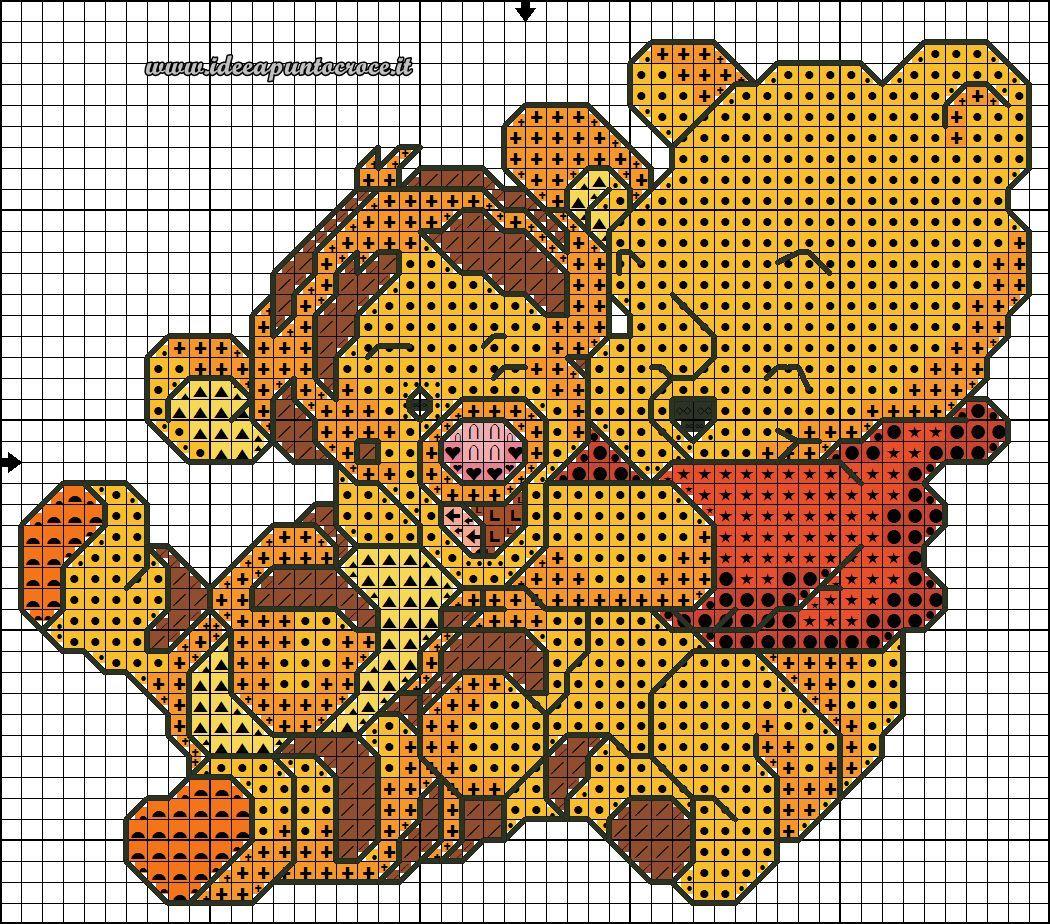 Schema punto croce baby winnie the pooh 40 punti circa for Punto croce disney winnie the pooh