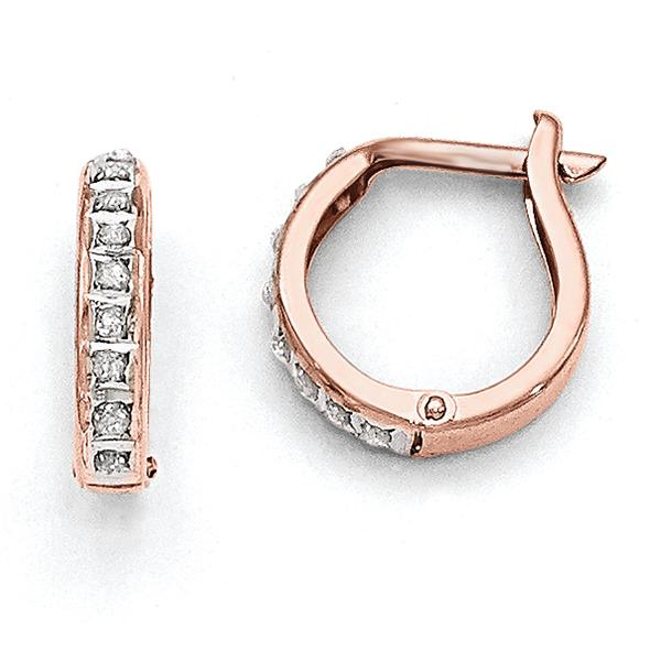 22195db9a Average Weight 0.63 - Diamond Weight 0.01 CT - Hollow - Round - Polished -  Hinged - 14k Rose Gold - Diamond Accent - SKU MDF271 22 Cast your burden on  ...