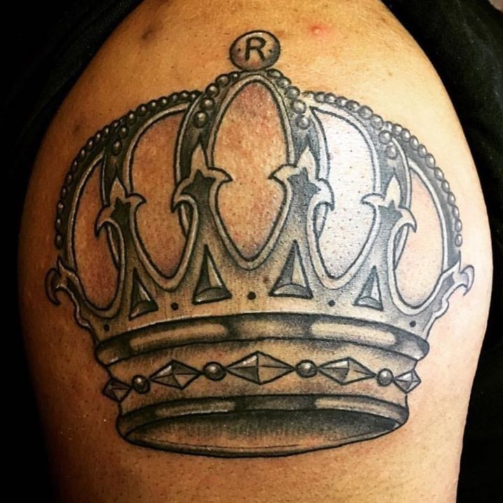 Crown Tattoo by Billy from Charlotte Tattoo Company - 20170403 ...