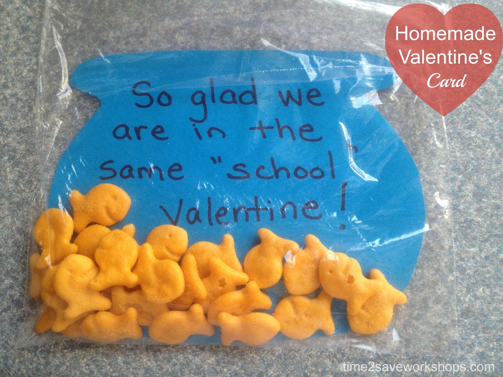 goldfish valentines day cards   Homemade Valentine Cards: DIY Goldfish Valentine's Day Greetings ...