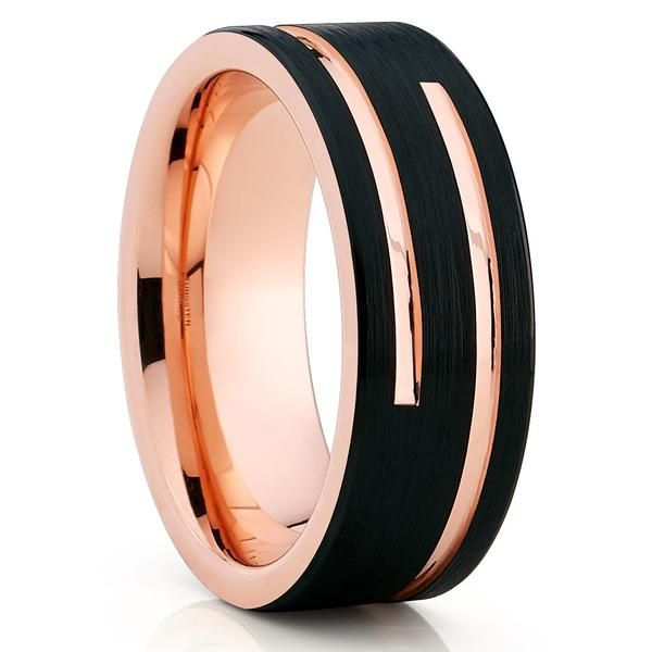 FREE SHIPPING Custom Engraved 8mm Black Tungsten Band Matte Hammered Finish with Silver Center Groove Tungsten Wedding Ring Hammered Ring