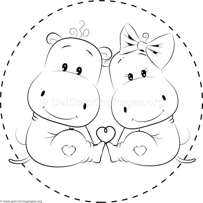 Hippo Smiling Cartoon Animals Coloring Pages For Kids Printable Free Zoo Animal Coloring Pages Animal Coloring Pages Cartoon Coloring Pages
