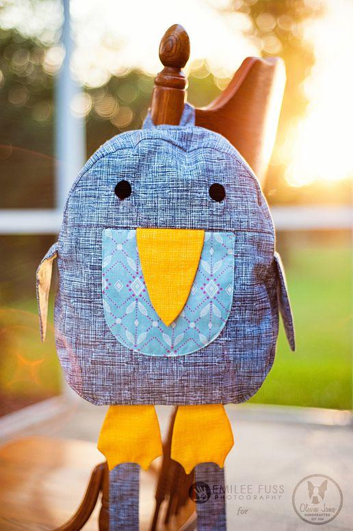 Penguin Backpack   Nähen schnittmuster, Geschenkideen und Schnittmuster