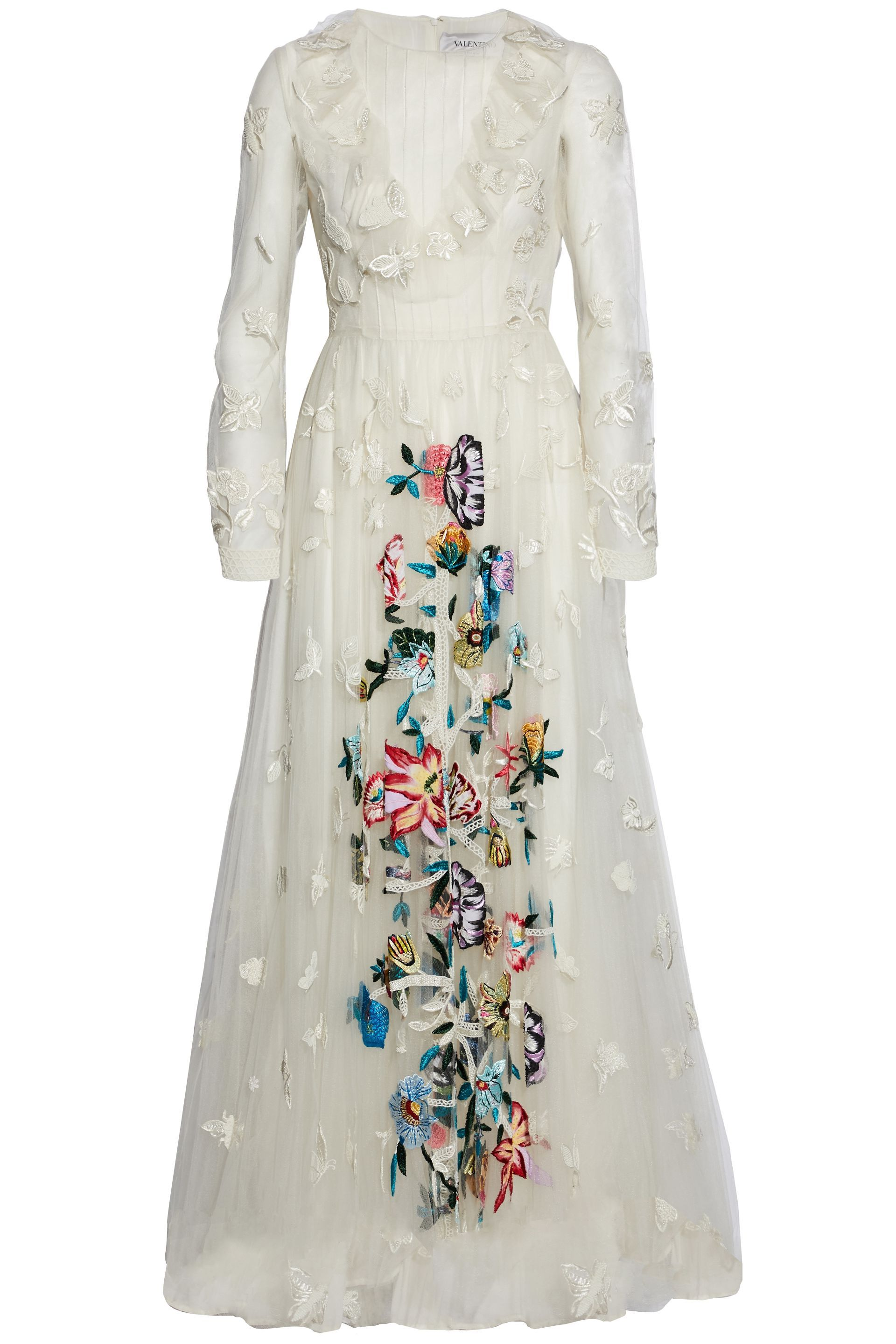 Beaded embroidered tulle gown | VALENTINO | Sale up to 70% off | THE ...
