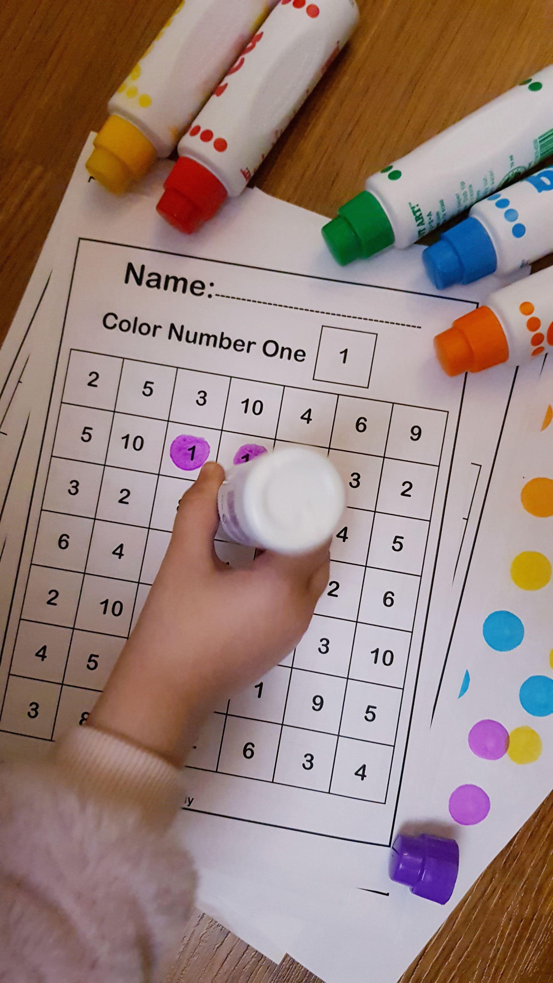 13 Preschool Number Set Worksheets 1 10 Coloring Style