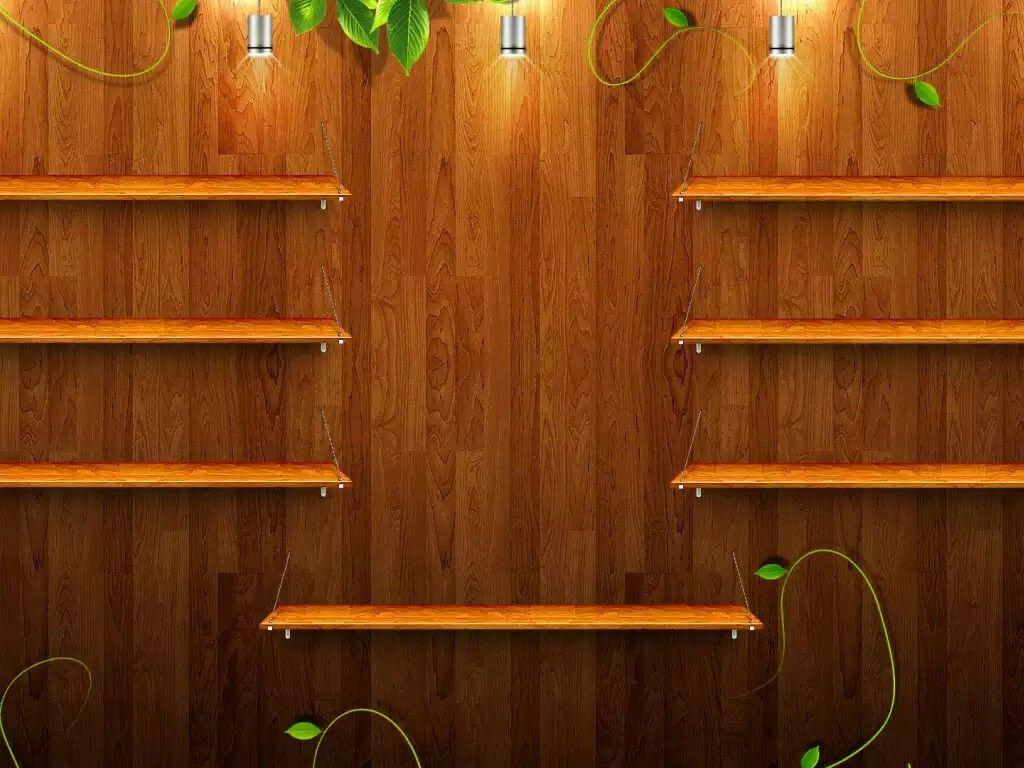 Wood Shelf Wallpaper (With images) Wallpaper shelves