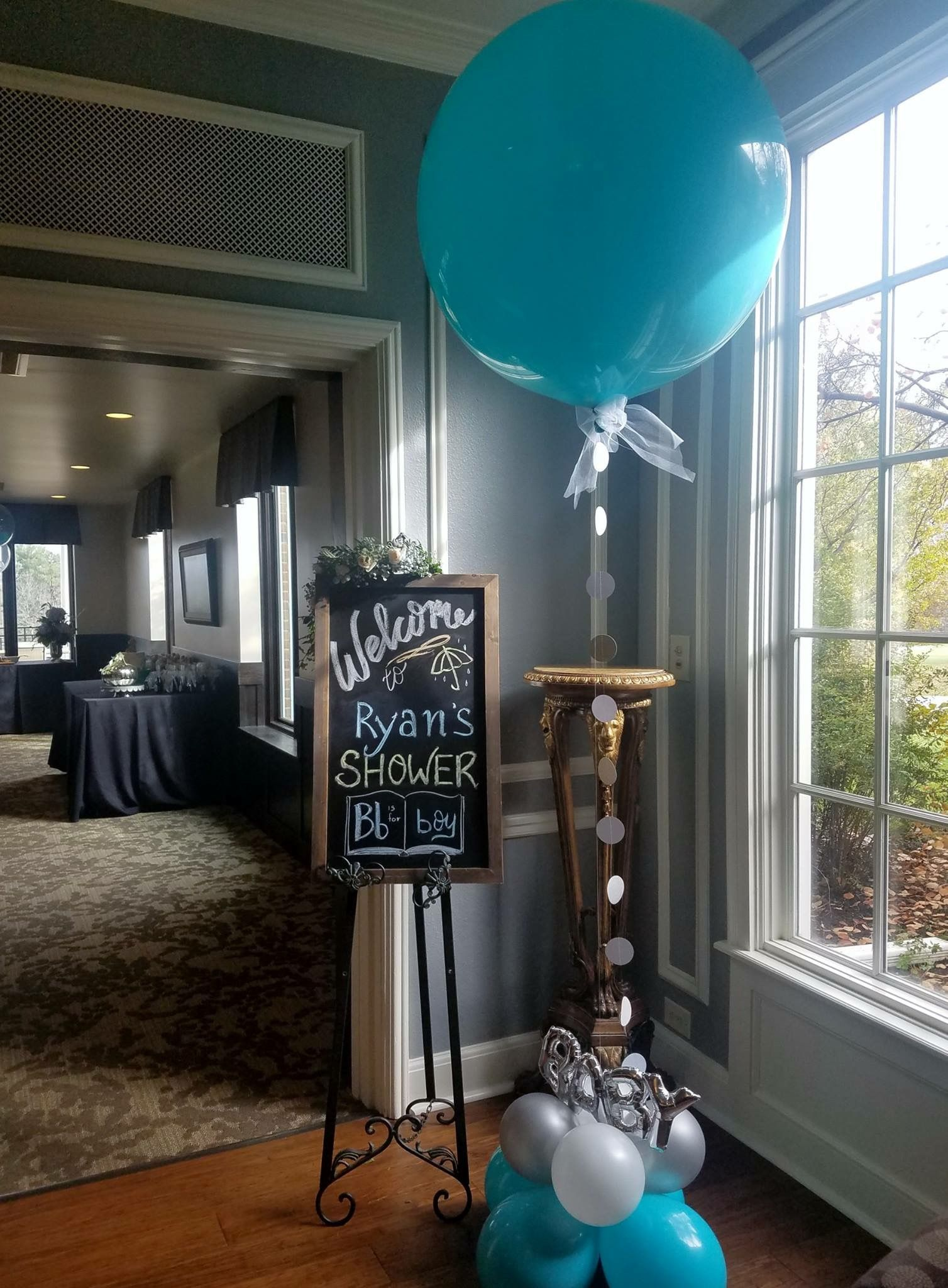 Boy Baby Shower Balloons Entrance Creative Baby Shower Themes