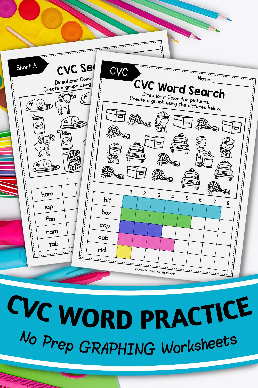 Cvc Words Worksheets Cvc Words Work Graphing Kindergarten Cvc Words Graphing Kindergarten Cvc Words Worksheets [ 1500 x 1000 Pixel ]