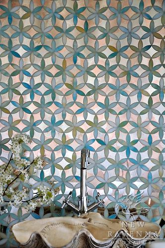 NewRavenna_FionaMirrorvert.JPG | New Ravenna Mosaics LOVE LOVE LOVE for one focal wall or floors