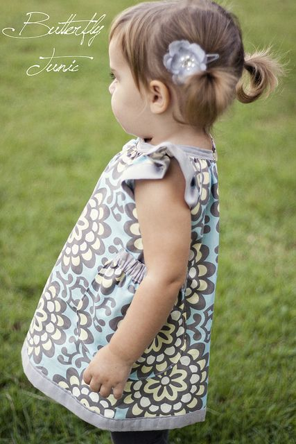 butterfly dress with free pattern and tutorial   Sew Cute ...