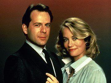 Programa de televisión Luz de Luna, cuando Bruce Willis aun tenia pelo