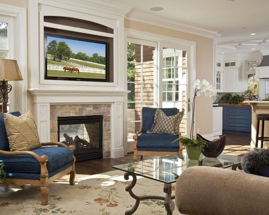 Traditional Living Room Fireplace Mantel Design Pictures Remodel