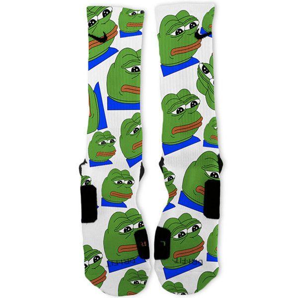 016e14d1e8 Pepe The Frog Meme Custom Nike Elite Socks – Fresh Elites