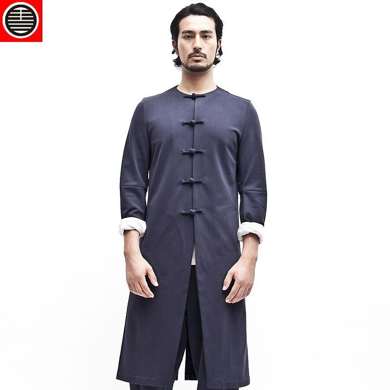 True Man Chinese Style Retro High End Series Long Tang Suit Klader