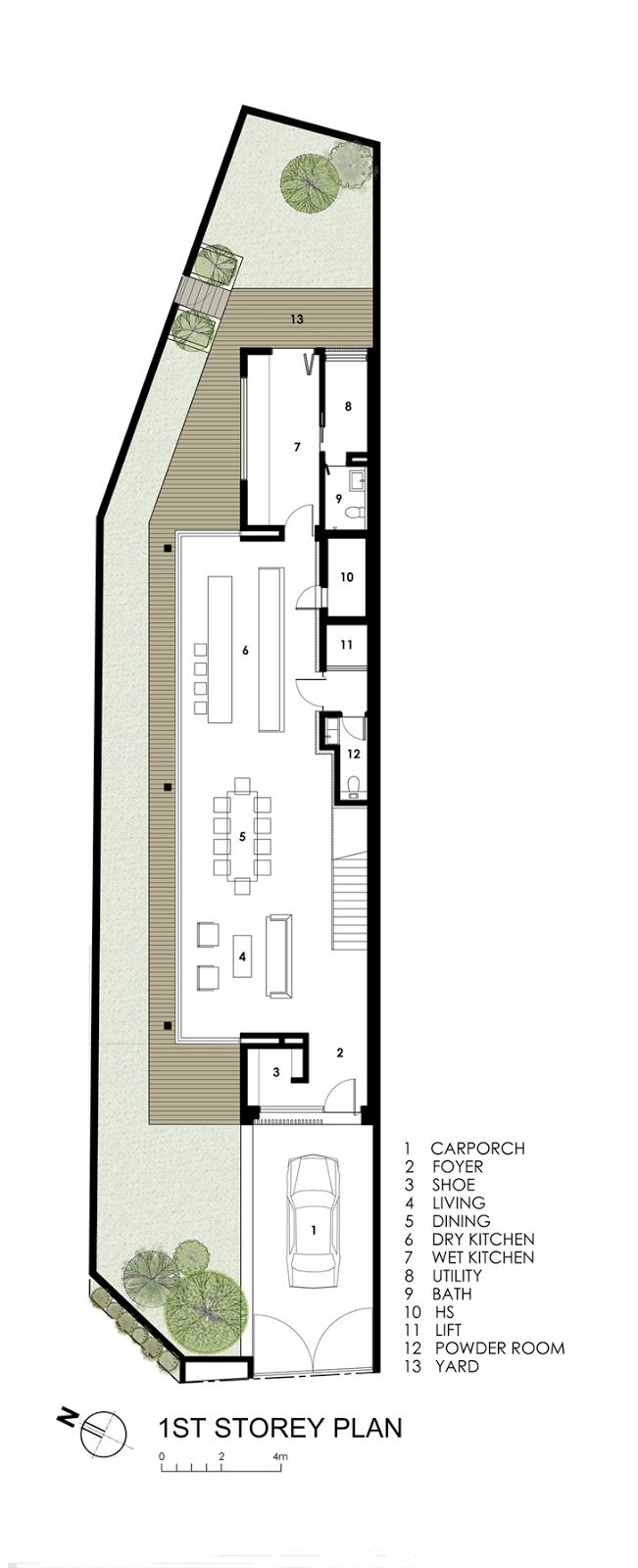 Thin But Elegant Modern House by Wallflower Architecture Design