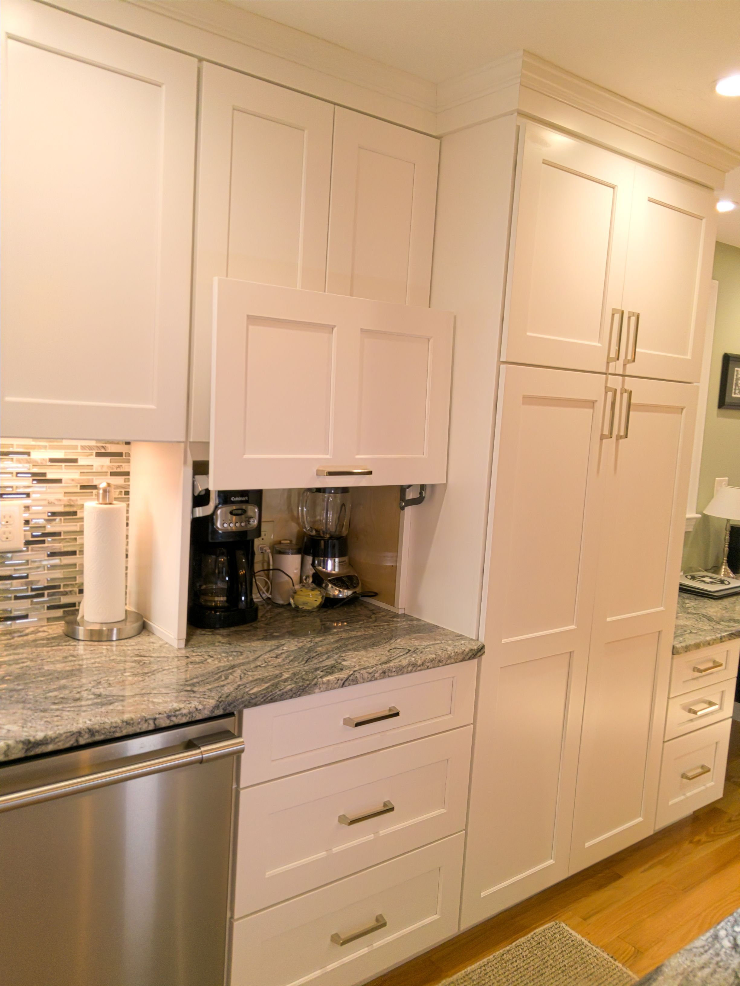Hide Kitchen Appliances For A Cleaner Counter Top Kitchen Cabinets Kitchen Cabinets For Sale Hidden Kitchen