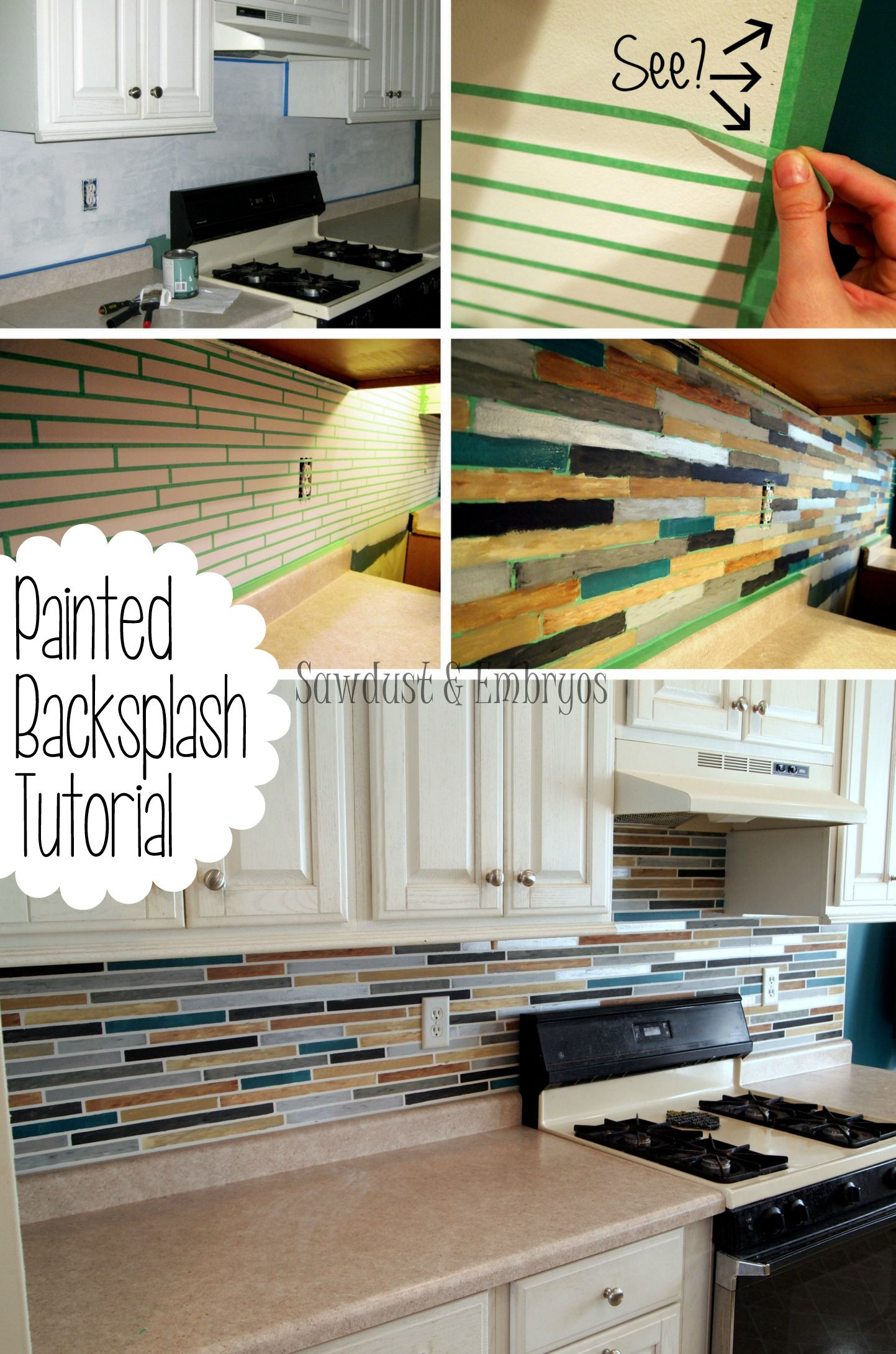 How To Paint A Backsplash To Look Like Tile Diy Home Improvement