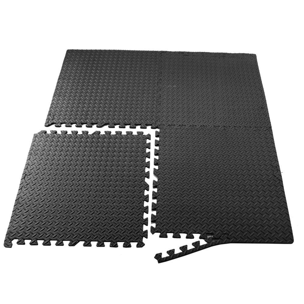 Details About 24sqft Floor Mat Interlocking Puzzle Rubber Foam Gym