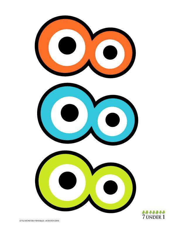 little monster party decorations monster eyes by 7under1designs rh pinterest com monster high dolls clip art cookie monster eyes clipart