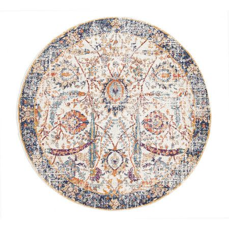 Ivory Amp Round Art Moderne D Or Rug Rugs Round Rugs Transitional Rugs