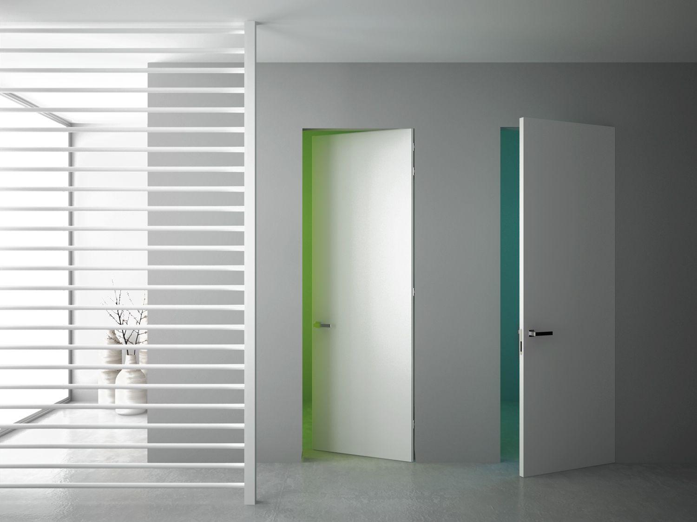 Porte raso muro 80x210 cm laccate bianche i pannelli - Porte raso muro ...