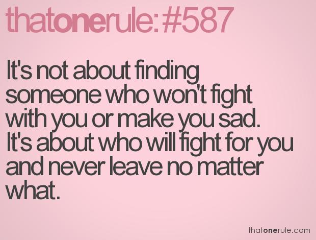 All relationships go through trials...just don\'t run away. Running ...