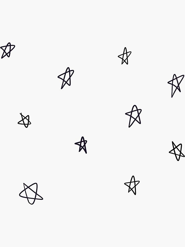 Small Star Doodle Pattern Sticker By Liselotjaah Star Doodle Doodle Patterns Small Doodle