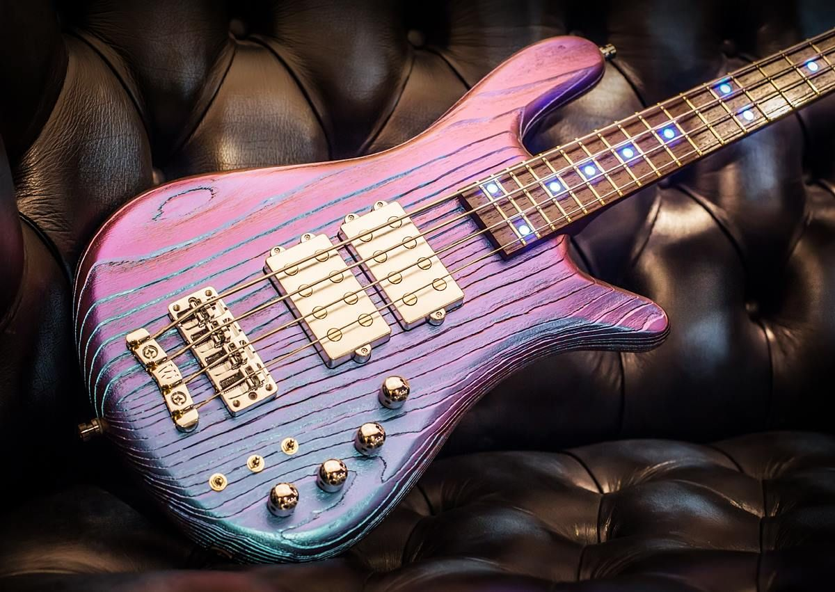 Warwick  Streamer $$ 4 Special Sandblasted Blue Flip Flop effect Satin Handcrafted for the Namm Show 2017