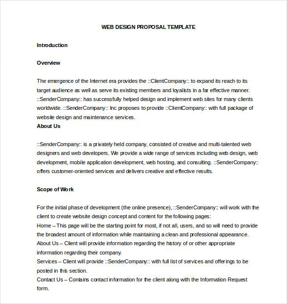 Free Online Proposal Template Business Plans And Business Proposals  Free Online Proposal Template