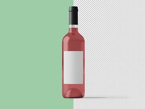 Pink Wine Bottle Mockup 236516509 Free Psd Templates Bottle Mockup Wine Bottle Bottle