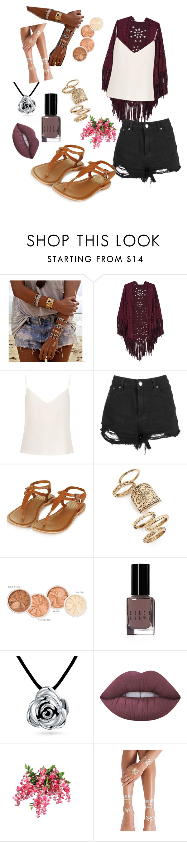 """""""Untitled #515"""" by nikkey23 ❤ liked on Polyvore featuring Flash Tattoos, Raey, Topshop, Bobbi Brown Cosmetics, Bling Jewelry, Lime Crime and temporarytattoo"""