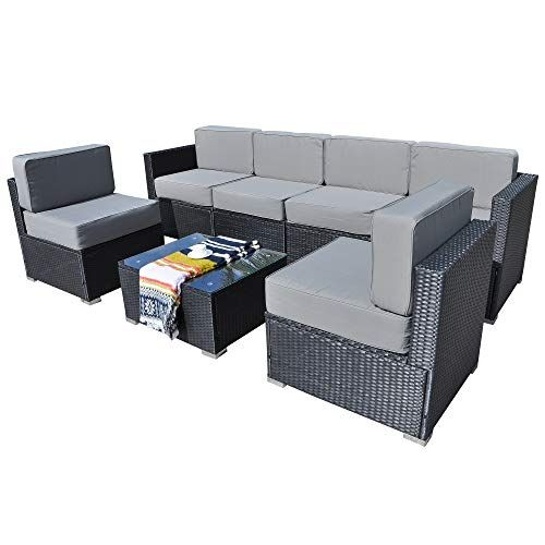 Tremendous Mcombo Outdoor Wicker Sofa Furniture Luxury Large Size Patio Machost Co Dining Chair Design Ideas Machostcouk