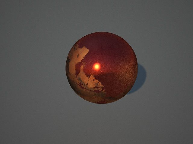 Shiny Red Marble by danielsbaker, via Flickr