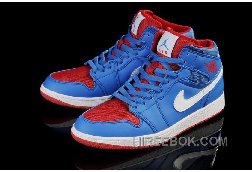 Air Jordan Shoes Air Jordan 1 Blue White Red  Air Jordan 1 - Here comes the  Air Jordan 1 shoes for you. As you can see 219ffe3cd3c2
