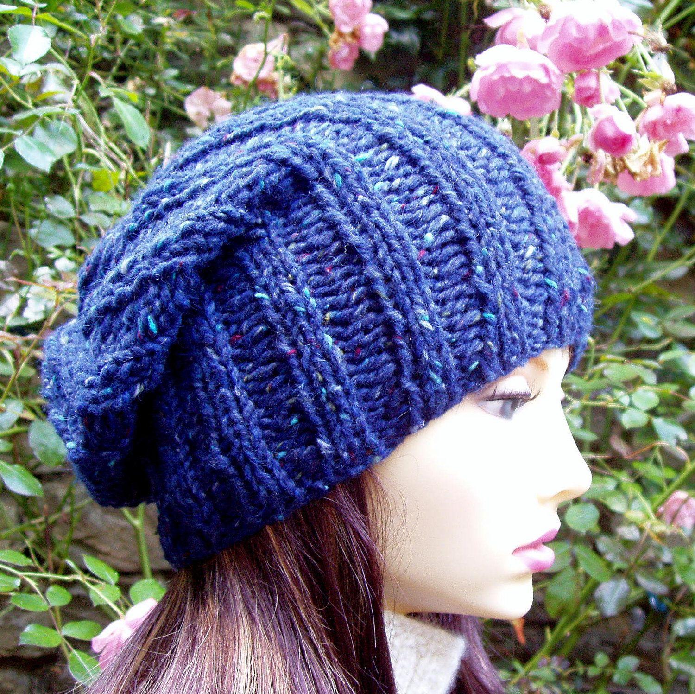KNITTING PATTERN/SEATTLE Chunky Knit Slouch Hat for Men/Women Easy ...