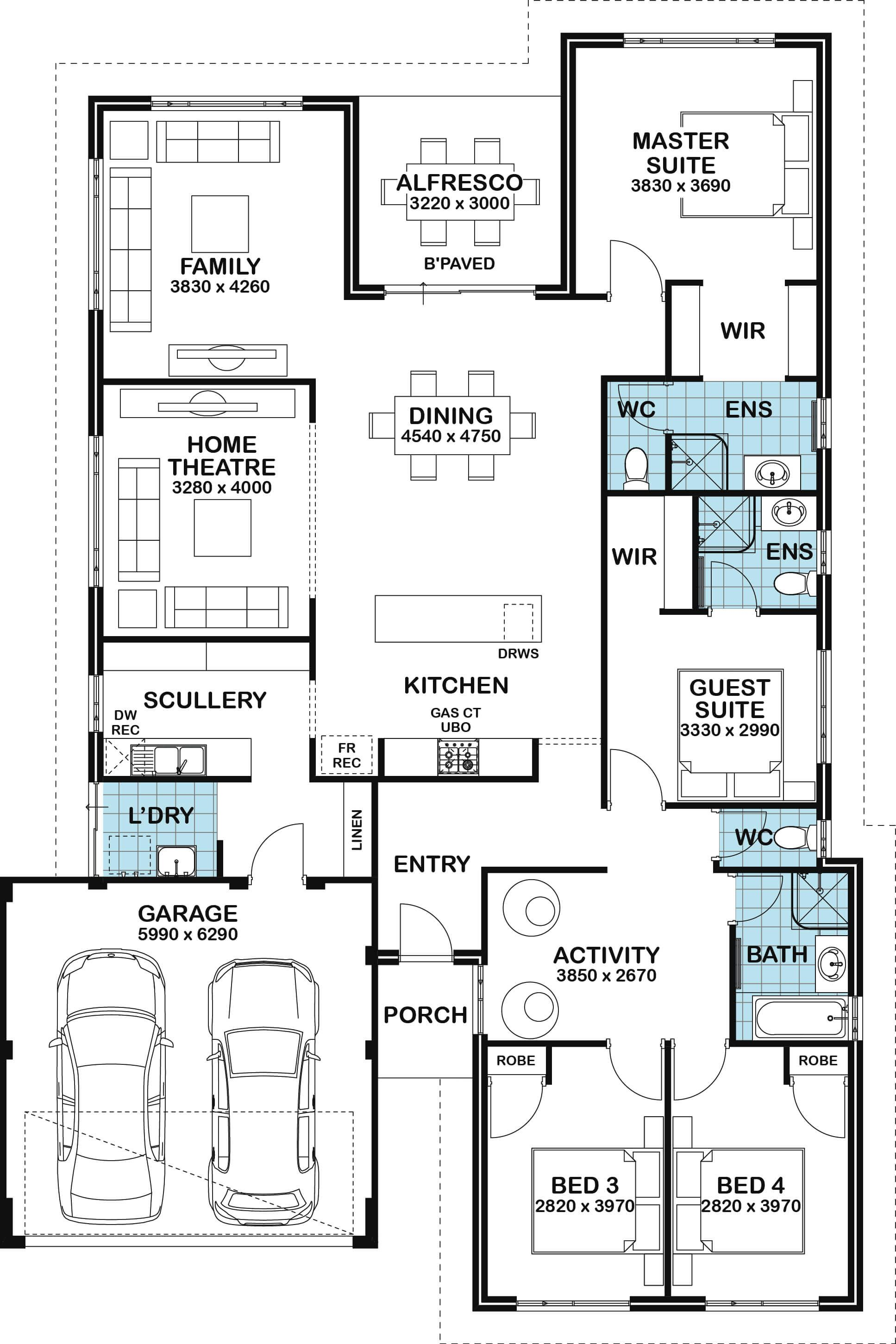 Home Designs Perth Family House Plans House Layout Plans House Map