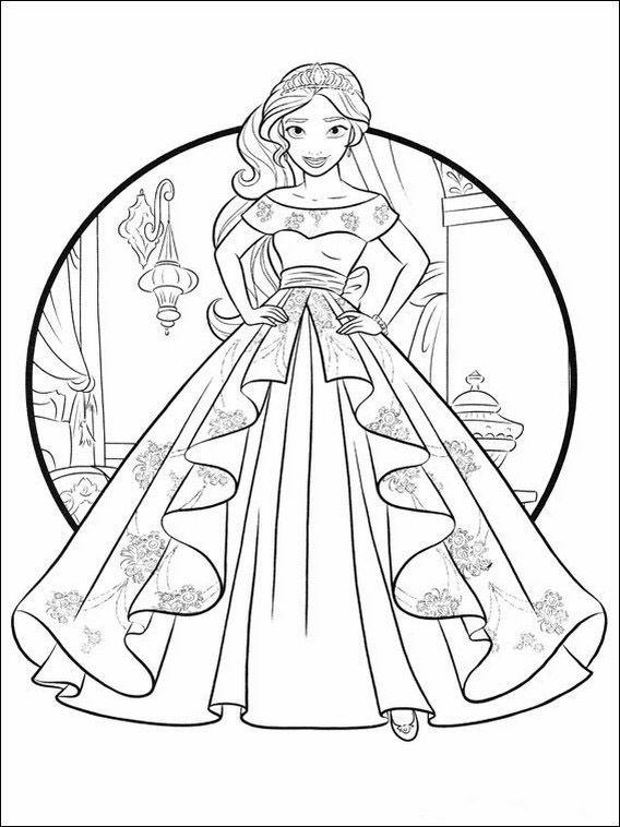 Dibujos para Colorear Elena de Avalor 9 | Dibujos para colorear para ...