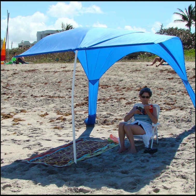 Beach Umbrella Sails Anchor Canopy Sun Shade