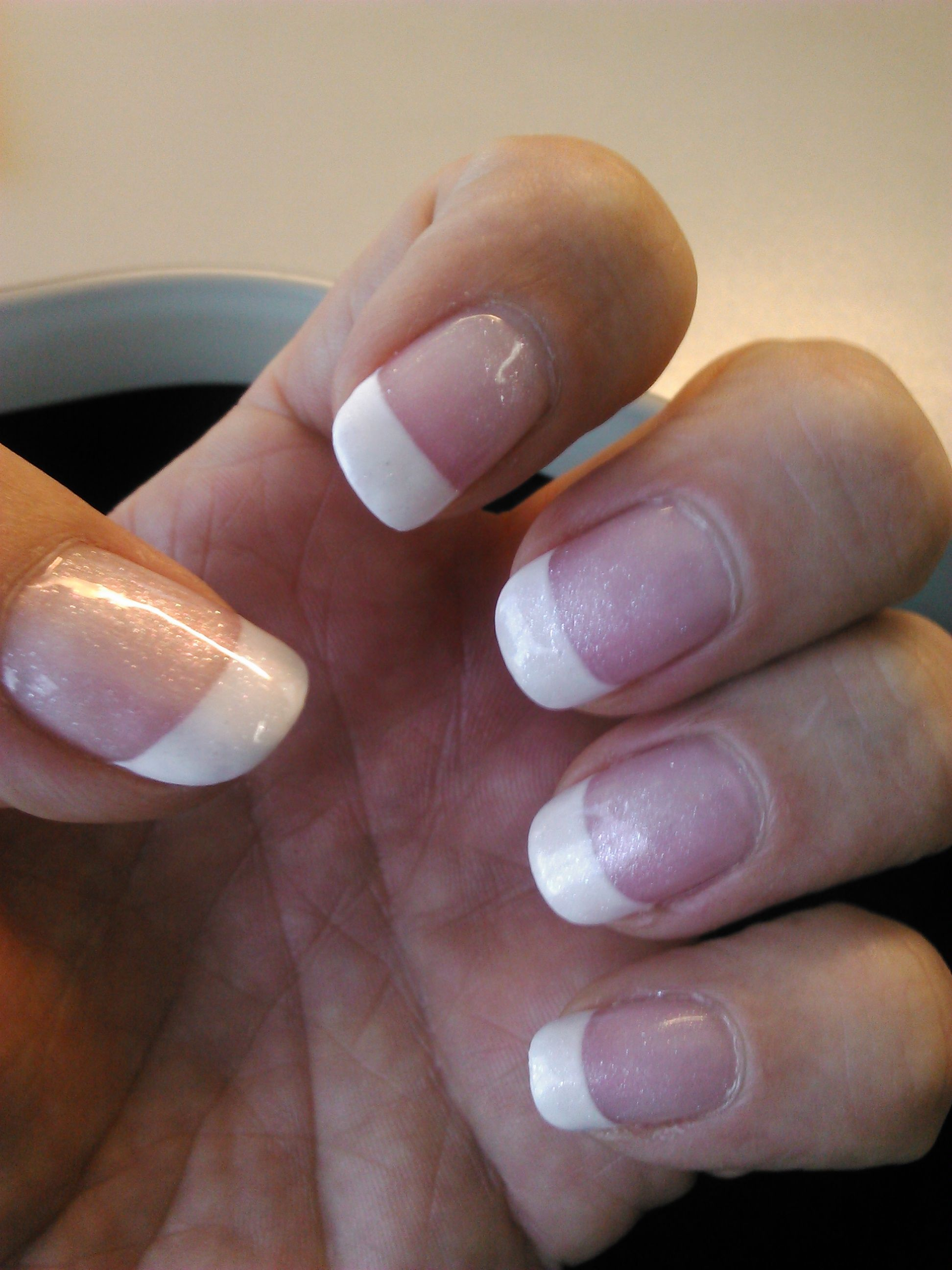 "Opi White Gel Nail Polish: Male French Manicure With OPI ""Princesses Rule!"" Gel Nail"